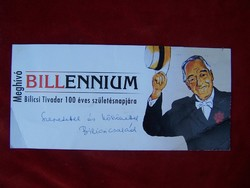 """BILLENIUM a Bilicsi család meghívója """"Szeretettel és köszönettel a Bilicsi család"""""""