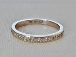 Szépséges antik palládium 0.25ct gyémánt gyűrű VIDEÓ