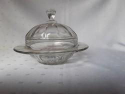 Régi préselt üveg dzsemtartó  /  1884