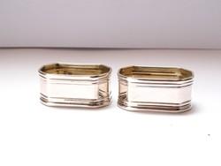 Olasz ezüst szalvétagyűrű pár.