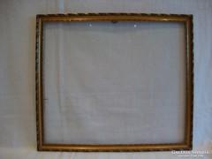 Üvegezett arany - fa képkeret falc 28x33 cm