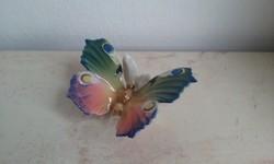 ENS porcelán pillangó, lepke gyönyörű festéssel