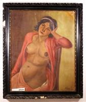 Női akt festmény, Horkay P.