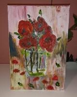 Rózsa üvegvázában