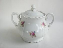 Zsolnay porcelán barokk cukortartó