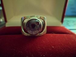 Ezüst gyűrű / ametiszt