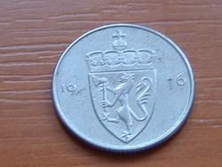 NORVÉGIA 50 ŐRE 1976 CÍMER