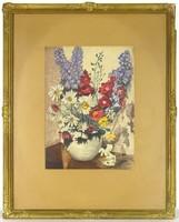 0S292 Balogh János : Asztali virágcsendélet