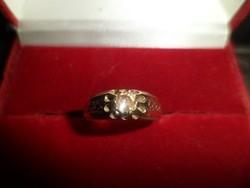 14K antik gyűrű
