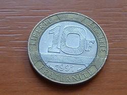 FRANCIA 10 FRANK FRANCS 1991 BIMETÁL