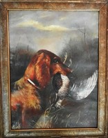Vadász kutya Schneider 1923-ból.58*75 cm.