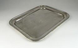 0S315 Antik jelzett ezüstözött alpakka tálca