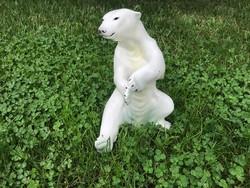 Orosz nagyméretű porcelán jegesmedve 24 cm.
