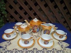 Antik Zsolnay teáskészlet