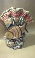 Halas, kagylós kerámia váza