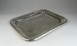 0S312 Antik jelzett ezüstözött alpakka tálca