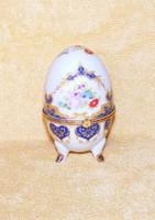 Porcelán tojás alakú bonbonier