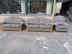 3-as kanapé+ 2-as kanapé+ fotel rusztikus szalon