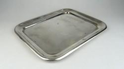 0S311 Antik jelzett ezüstözött alpakka tálca