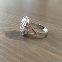 NAGA márkájú ezüst fényképtartós gyűrű