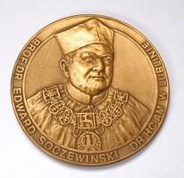 Prof.Dr. Edward Soczewiński emlékérme, Lublin.