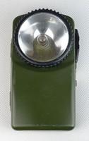 0S297 Zöld színű fémházas zseblámpa elemlámpa