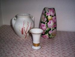 3 német antik váza, jelzettek (80.)