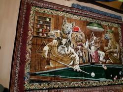 Biliárdozó kutyák nagy faliszőnyeg