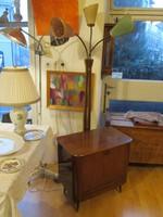 Retró állólámpa, bárszekrénnyel,loft,vintage