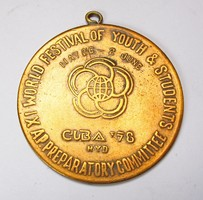 Kuba, XI. Világifjúsági és diákofesztivál 1978 érem.