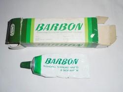 Retro BARBON borotvakrém borotva krém fém tubus , papír doboz - CAOLA , KHV gyártó - 1970-es évekből