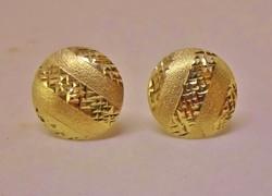 Gyönyörű antik button aranyfülbevaló 12mm