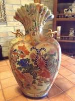 Hatalmas kézzel festett antik kínai váza