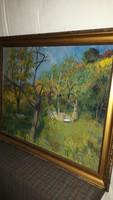 Somogyi Imre hatalmas méretű festménye!Bernáth Aurél tanítvány