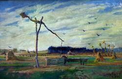 """Id. Kátai Mihály ( 1906-1983) """" Őszi határ """""""