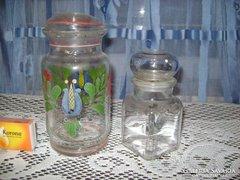 Üveg tároló - 2 darab - együtt eladó