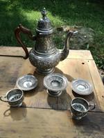Magyar, 1867 utáni.ezüst 2 szemékyes kávés szett.