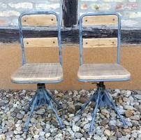 Loft- ipari asztal székekkel ( 2 drb )