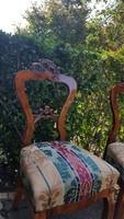 Felújítótt  Neo barokk szék párban.
