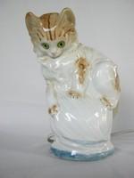 Cica macska porcelán lámpa hangulatlámpa