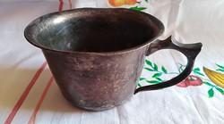 Antik fém komacsésze (ezüstözött)