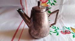 H.H jelzésű Antik fém tejes,tejszínes kanna (ezüstözött)