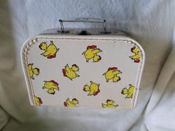 Retro csibés gyerek bőrönd