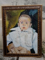 Kis unoka - festmény