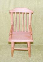 Fa szék játékbabának, baba bútor
