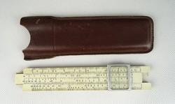 0S471 Régi orosz logarléc bőr tokban 1957