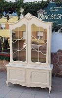 Vintage barokk vitrines tálaló