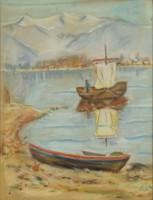 0S583 Ismeretlen művész : Mediterrán öböl