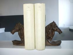 Öntöttvas ló szobor könyvtámasz párban