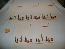 Retro ÁFÉSZ ITALÁRLAP - öt darab - gyűjteménybe